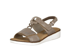 Rieker sandaal | Taupe Metallic
