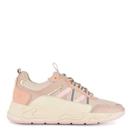 Poelman sneaker | Baby Pink - beige - Combi