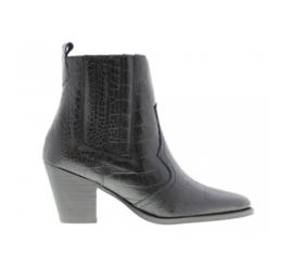 Tango Western Boots | Croco Black