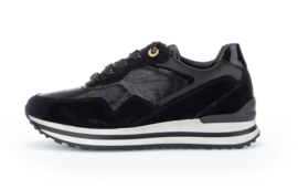 Gabor sneaker | Kroko Lack Schwarz