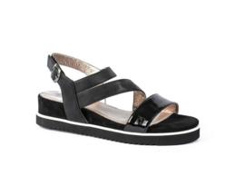 Pitt sandaal | Black Patent Combi