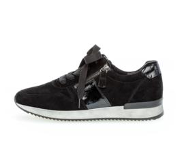 Gabor sneaker | Black Combi Lack