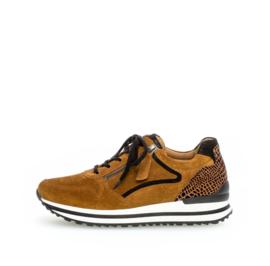 Gabor sneaker | Cognac. Camel Combi
