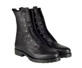 Tango Biker Boots | Bee Leather Black