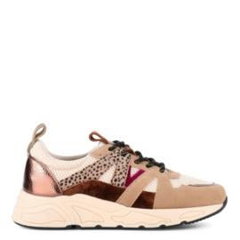 Poelman sneaker | Cognac Combi