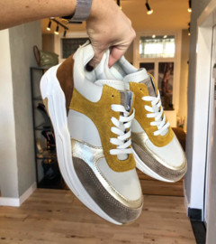 Bullboxer sneakers | Taupe Yellow
