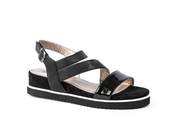 Pitt sandaal   Black Patent Combi
