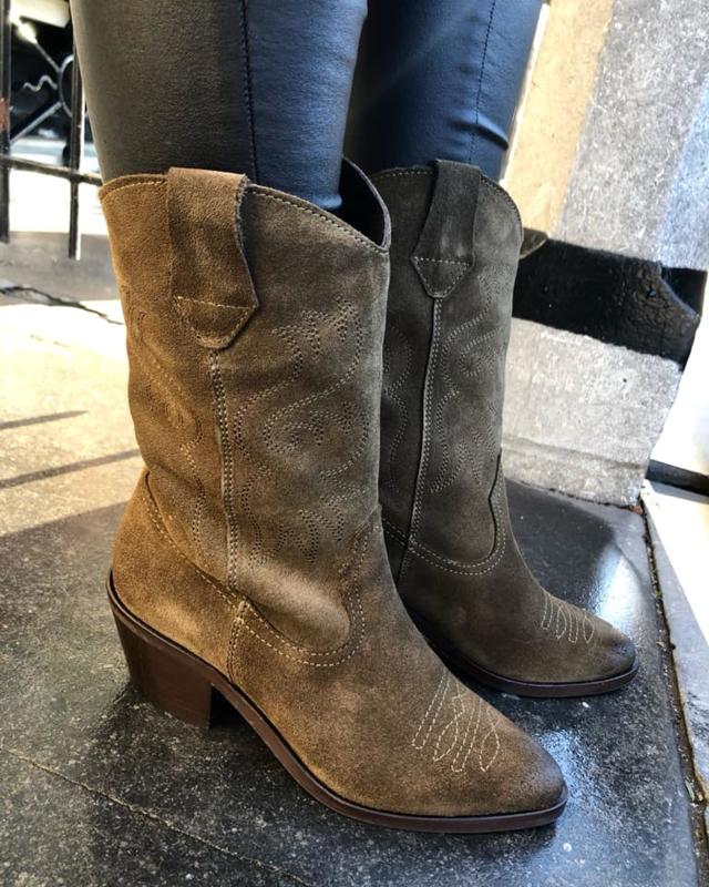 VIQO Cowboy Boots || Khaki Green