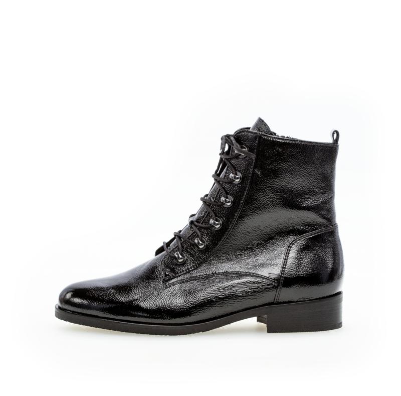 Gabor Biker Boots   Lack Black