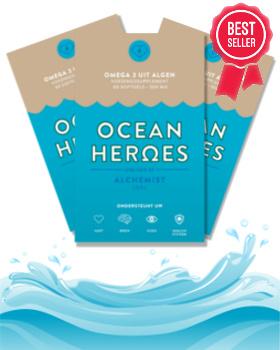 Ocean Heroes - Veganistische Omega-3 Algenolie DHA + EPA - 180 Capsules