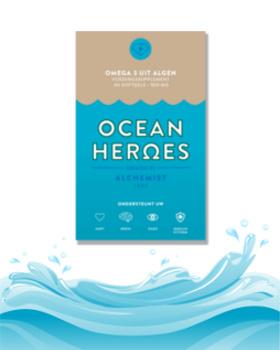 Ocean Heroes - Veganistische Omega-3 Algenolie DHA + EPA - 60 Capsules