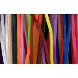 Chenille draad kleuren mix 50 stuks 9mm dik