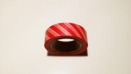 Washi Tape Rode streep