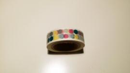 Washi Tape Stippen grijs en kleur