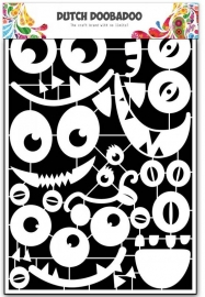 Paper Art Monster gezichten A5