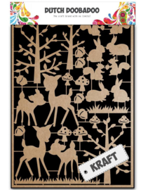 Craft Art Dieren in het bos (Forest Animals) A5