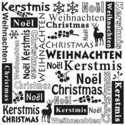 Embossing folder Kerst Nellie's Choice
