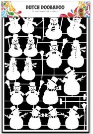 Paper Art Sneeuwpoppen A5
