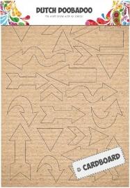 Pijlen van karton