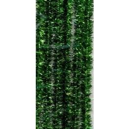 Chenille draad Groen glitter
