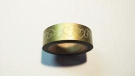 Washi Tape Harten in goud
