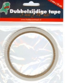 Dubbelzijdige tape 3mm (10m)