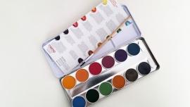 Eco Waterverf 12 kleuren inclusief penseel.
