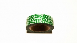 Washi Tape Groene cijfers