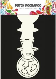 Sneeuwpop kaart sjabloon