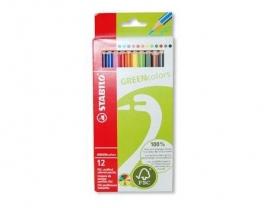 Stabilo Green kleurpotloden 12 stuks