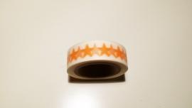 Washi Tape Sterren oranje