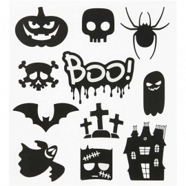 Stickervel Halloween figuren
