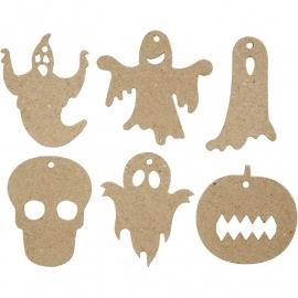 Halloween decoratieve figuren 6 stuks
