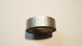 Washi Tape Harten in zilver