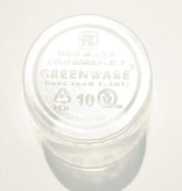 Beker van Bioplastic