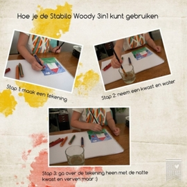 Stabilo woody 3 in 1 potloden (10 stuks)