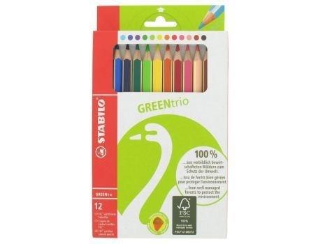 Ergonomische kleurpotloden Greentrio 12 stuks