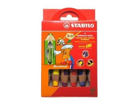Stabilo woody 3 in 1 potloden (6 stuks)