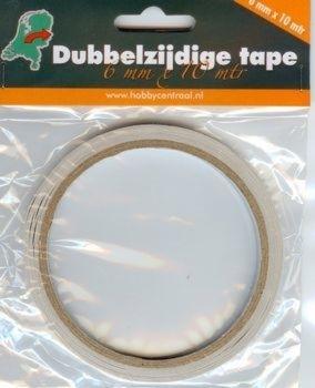Dubbelzijdige tape 6mm (10m)