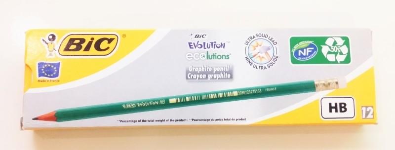 Potlood met gum Bic Ecolutions