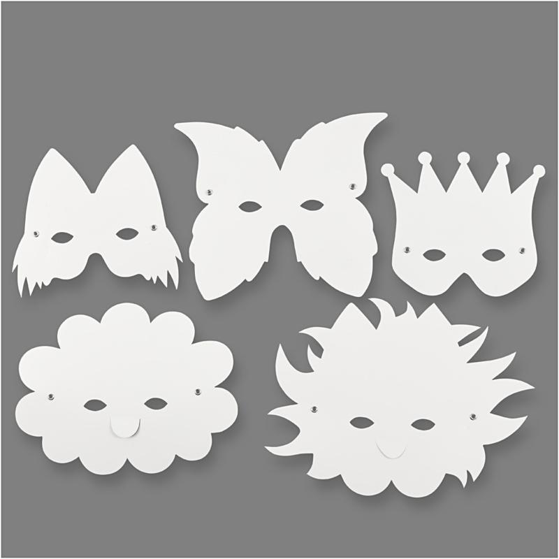 Maskers Fantasie 5 stuks
