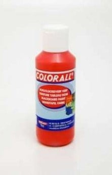 Schoolbordverf rood  (100ml) Colorall