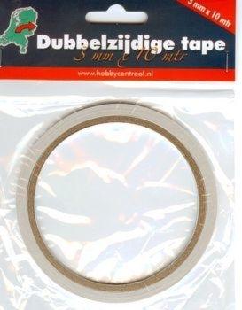 Dubbelzijdige tape 3mm (10m)