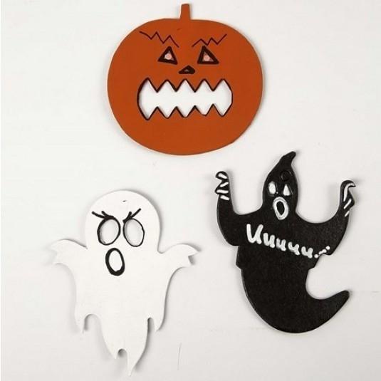 Halloween Figuurtjes Maken.Halloween Decoratieve Figuren 6 Stuks Kartonnen Figuren