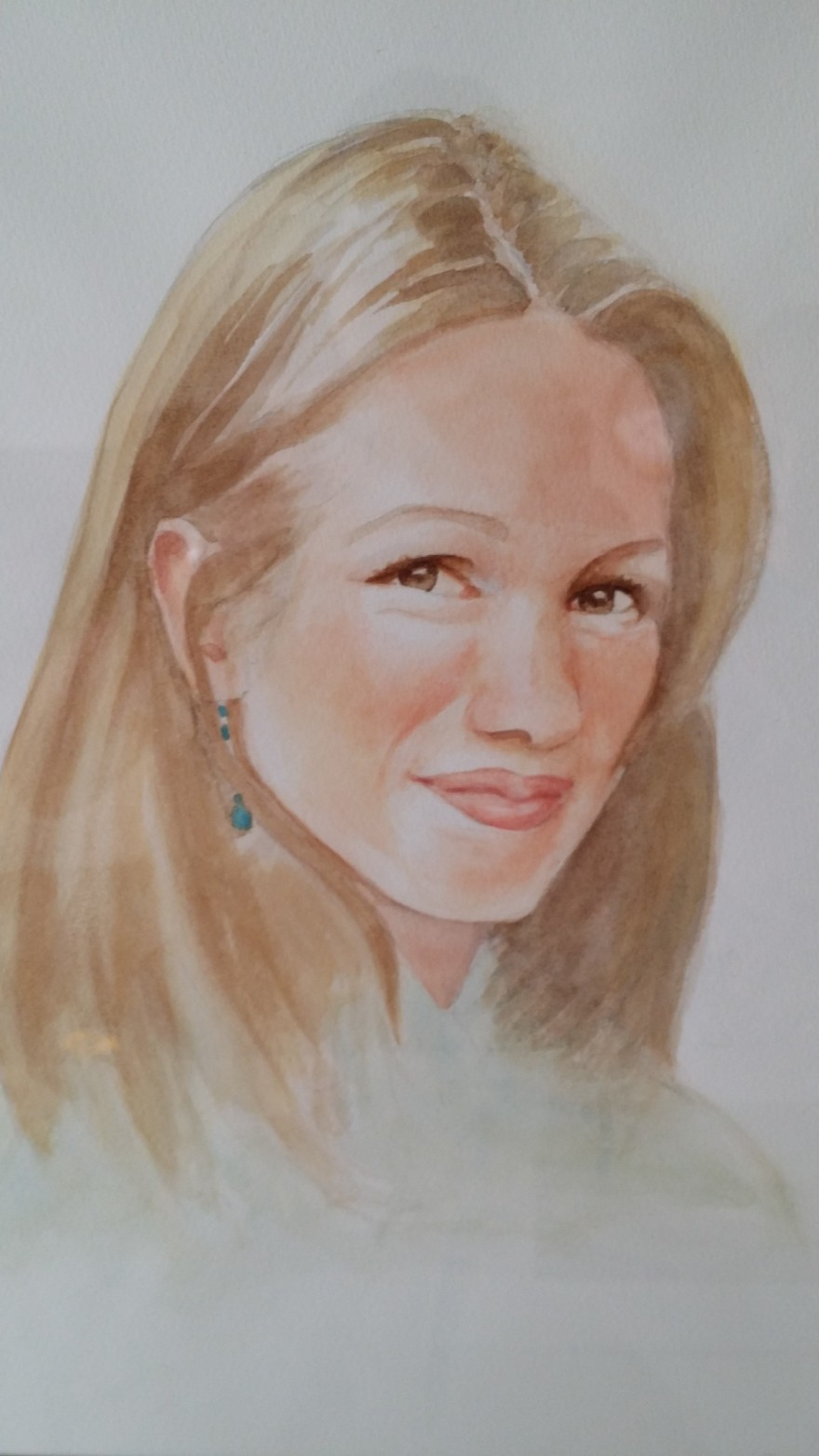 Portret van Sabine geschilderd door C. Leerentveld