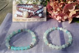 Matte Agaat armbanden turquoise