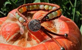Natuurlijke Jade edelstenen wrap armband