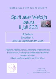 spirituele beurs zondag 11 juli 2021 Capelle ad IJssel