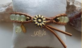 Jade edelstenen wrap armband