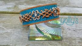 Turquoise celtische armband